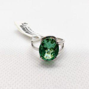 Jewelry - Ocean Blue Topaz Sterling Silver Ring Size 7